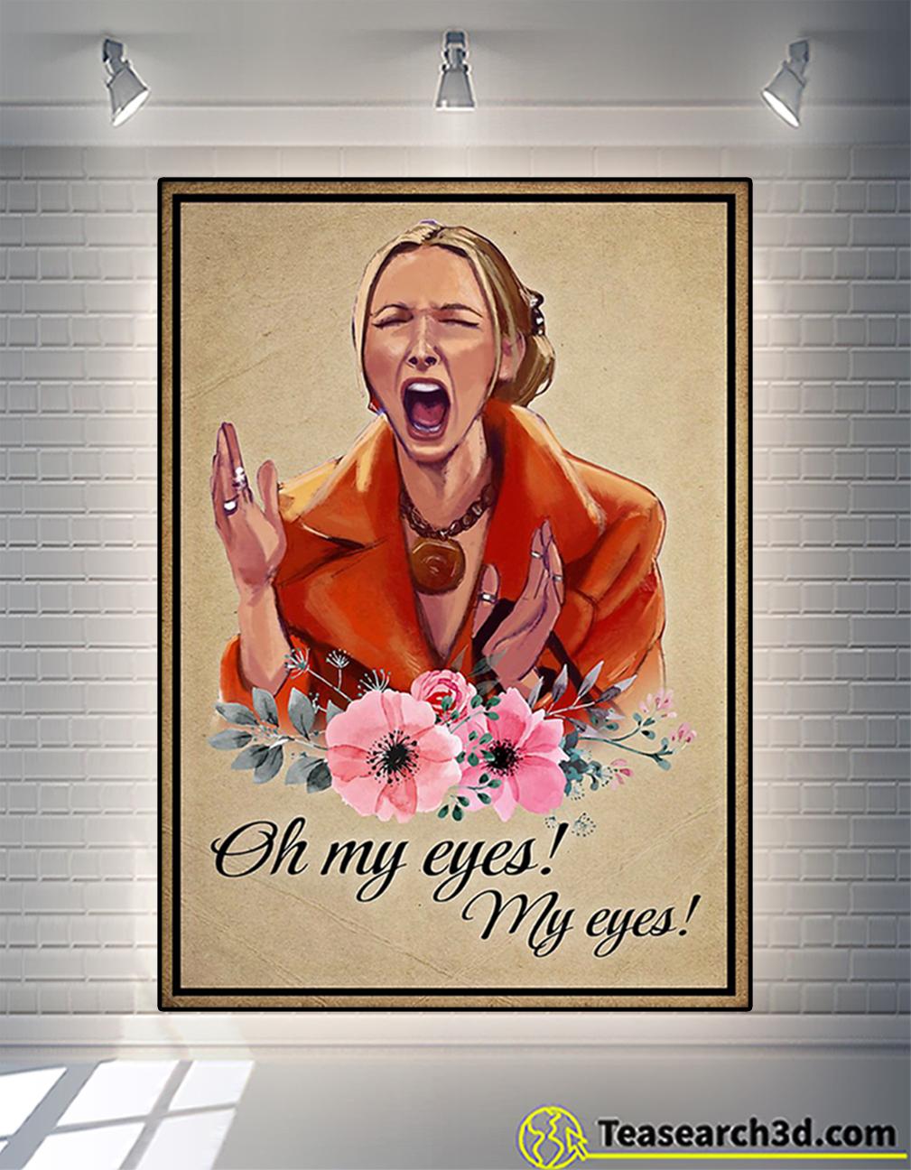 Phoebe buffay oh my eyes poster
