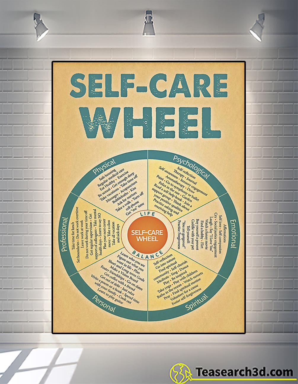 Poster social worker self-care wheel