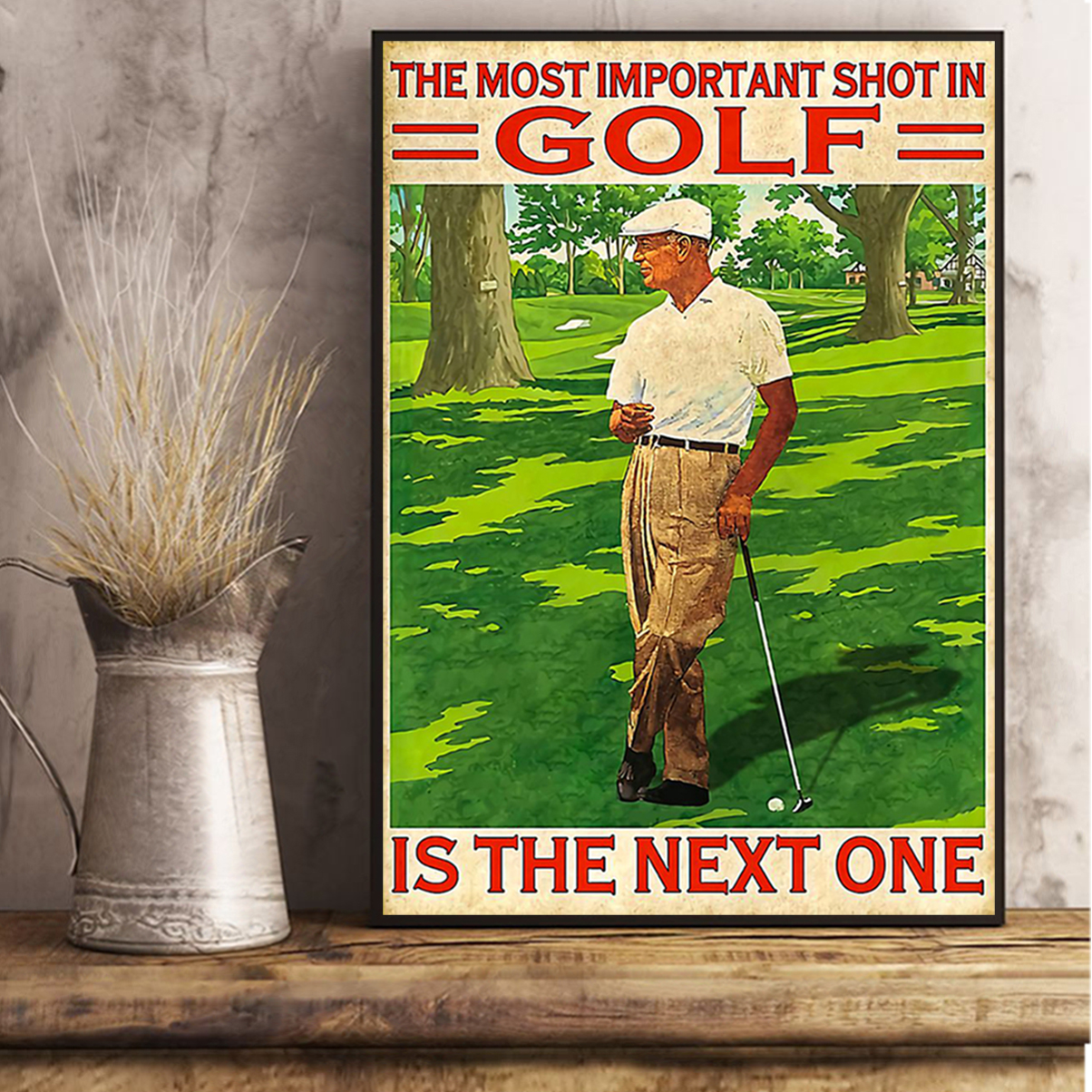 Poster the most important shot in golf A2