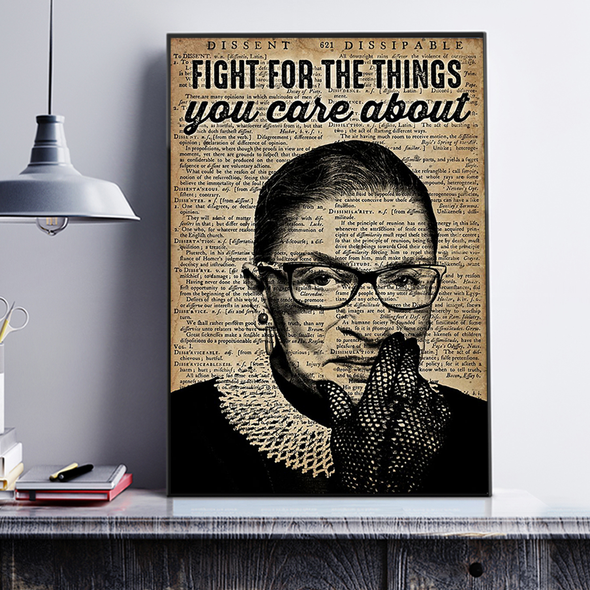 RBG feminist fight for the things you care about poster A1