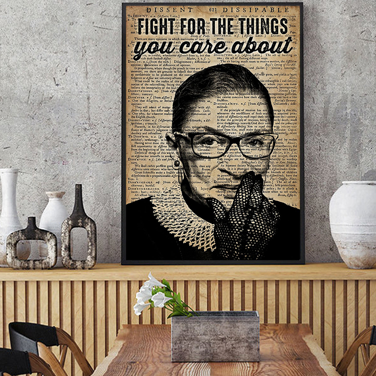 RBG feminist fight for the things you care about poster A2