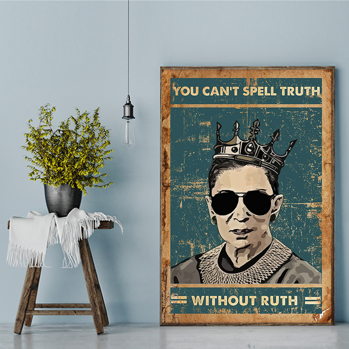 RBG you can't spell truth without ruth poster A1