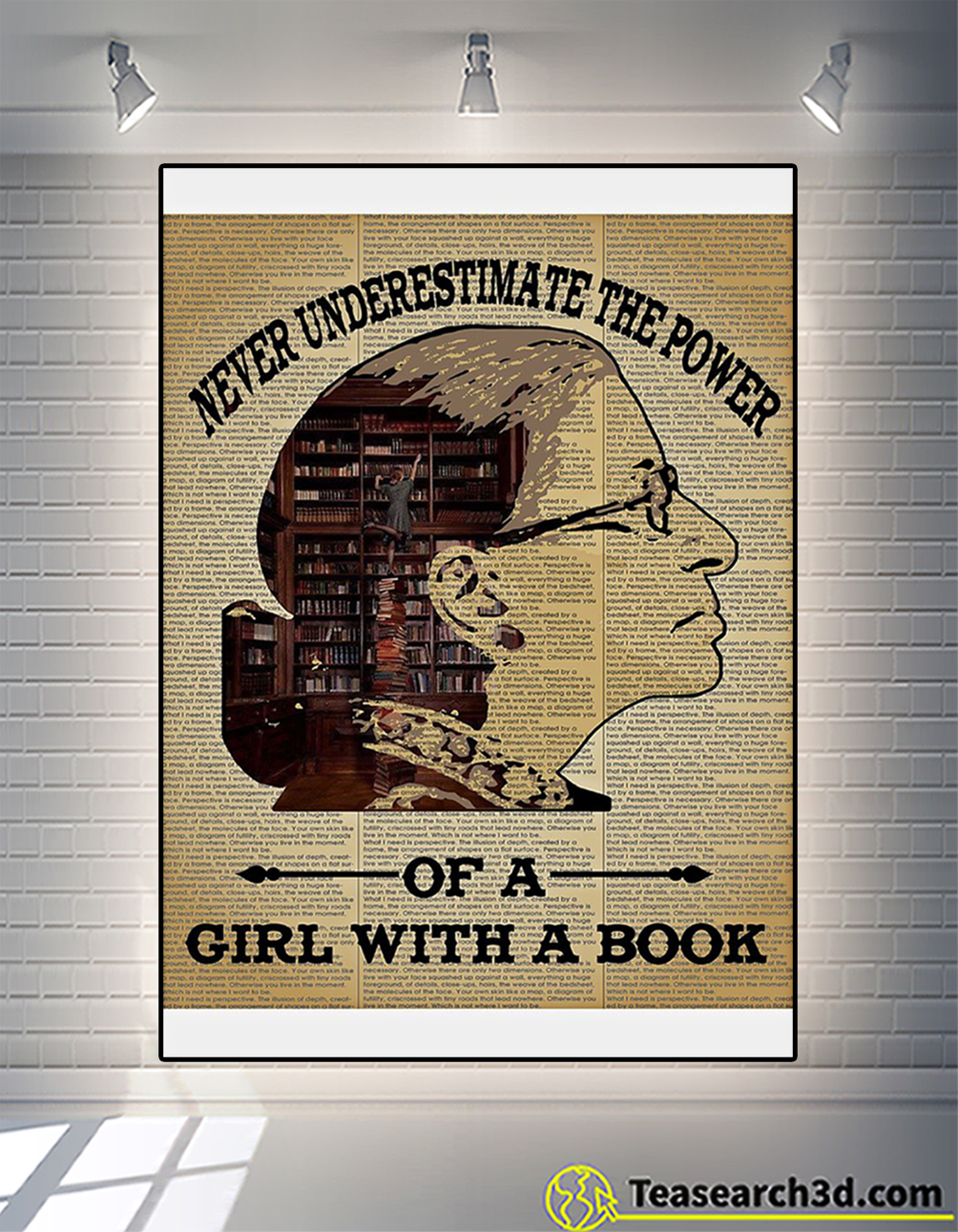 Ruth bader ginsburg never underestimate the power of a girl with a book poster