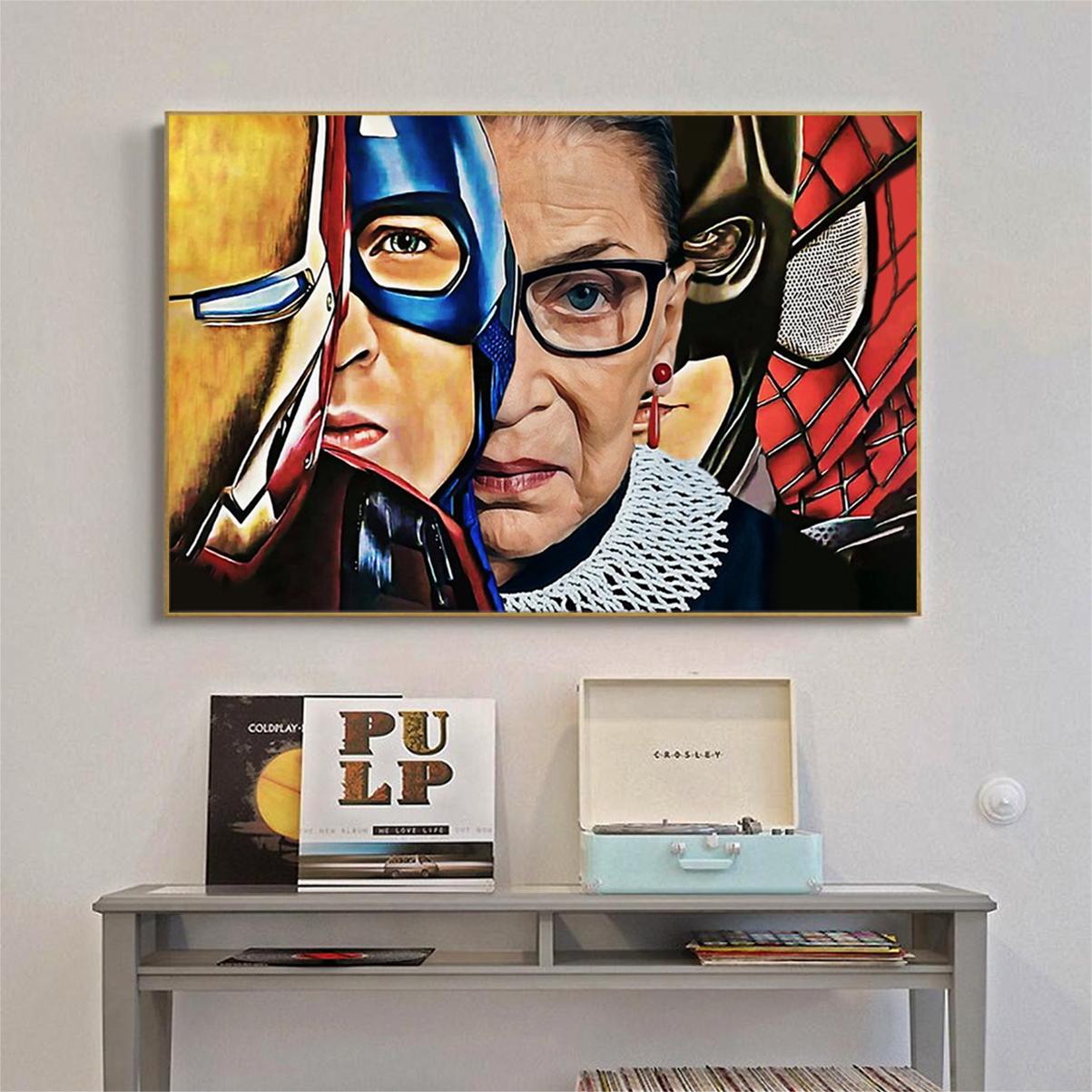 Ruth bader ginsburg superheroes poster A1