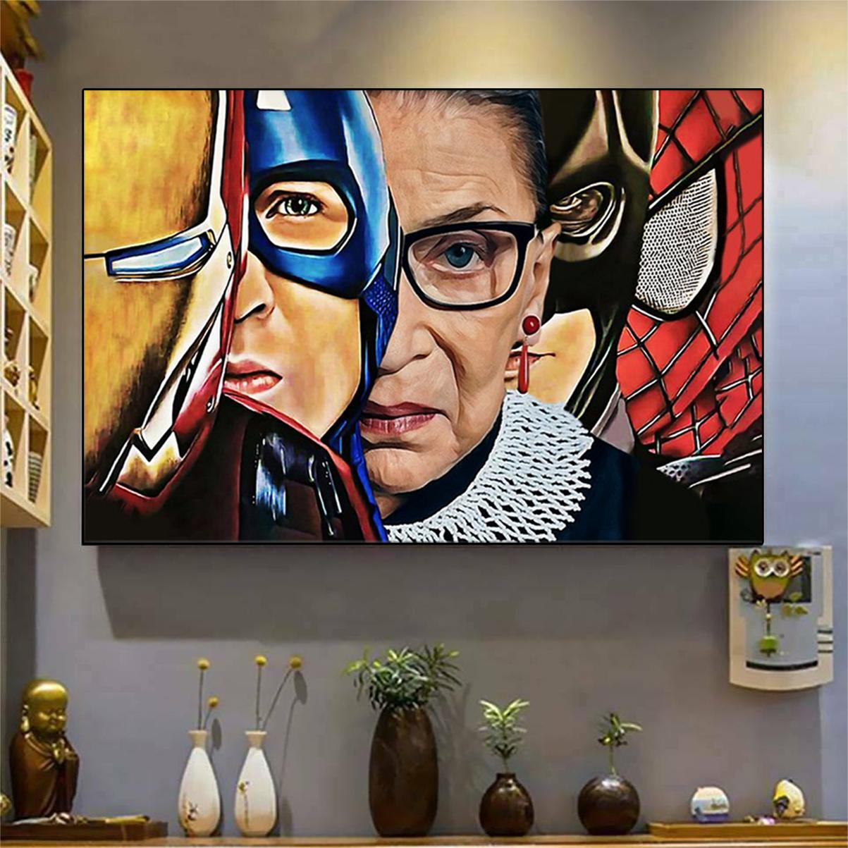 Ruth bader ginsburg superheroes poster A3