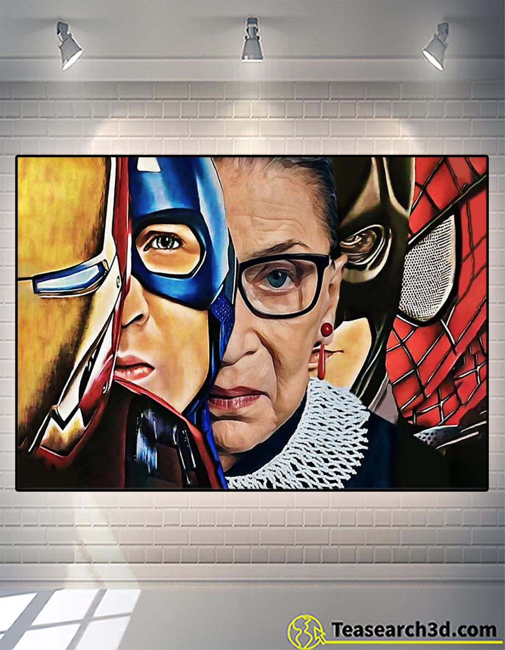 Ruth bader ginsburg superheroes poster