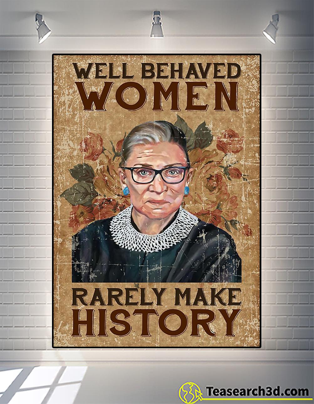 Ruth bader ginsburg well behaved woman rarely make history poster