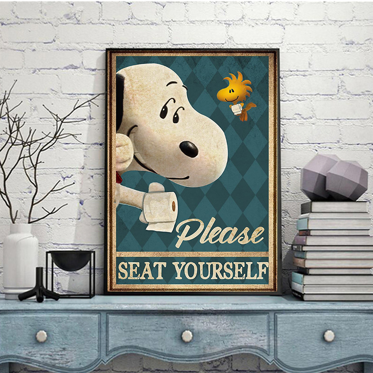 Snoopy please seat yourself poster A2