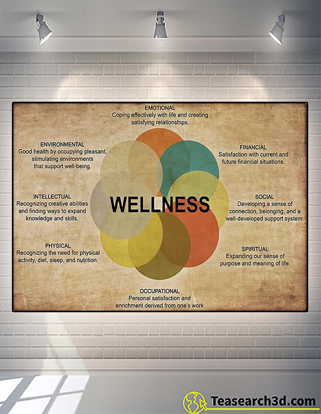 Social worker wellness poster A2