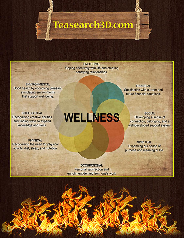 Social worker wellness poster A3