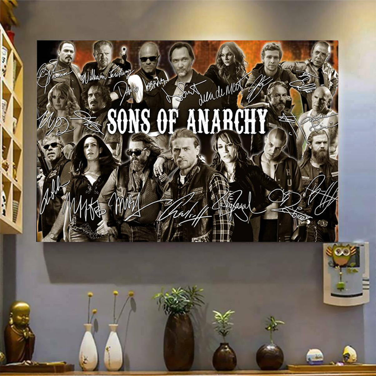 Sons of anarchy signature poster A1
