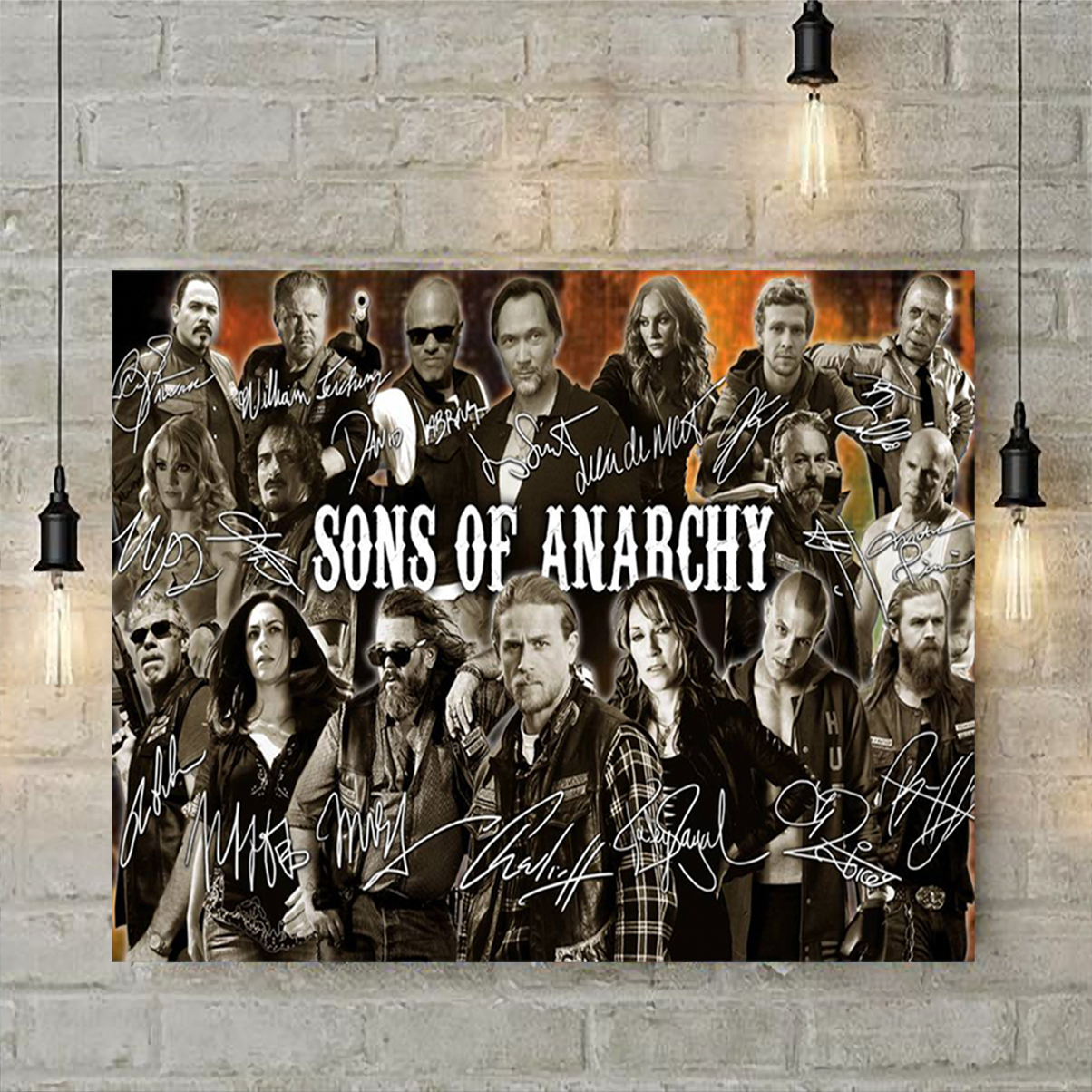 Sons of anarchy signature poster A2