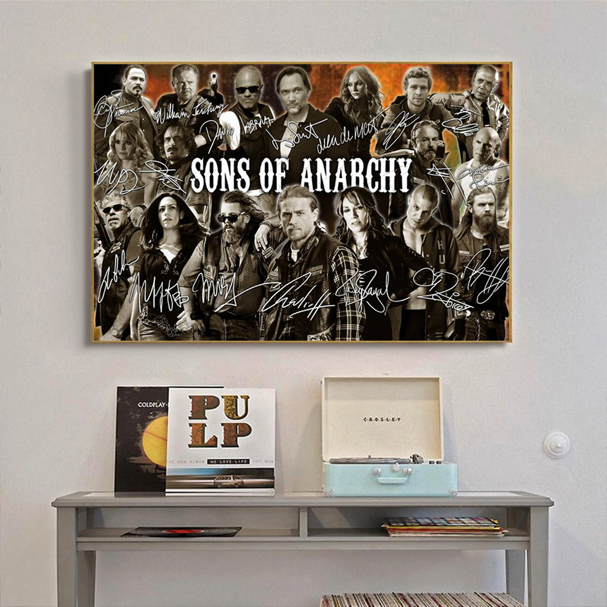 Sons of anarchy signature poster A3