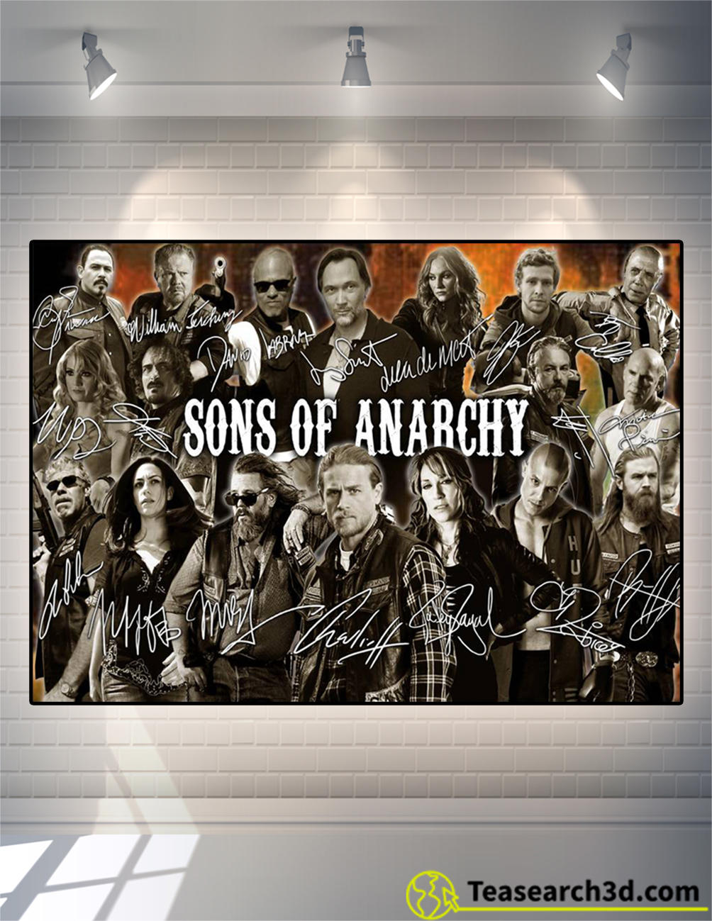 Sons of anarchy signature poster