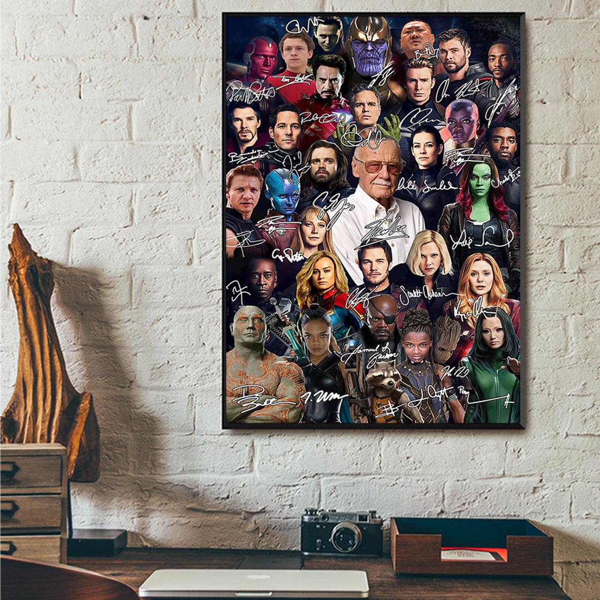 Stan lee all actors signature poster A2