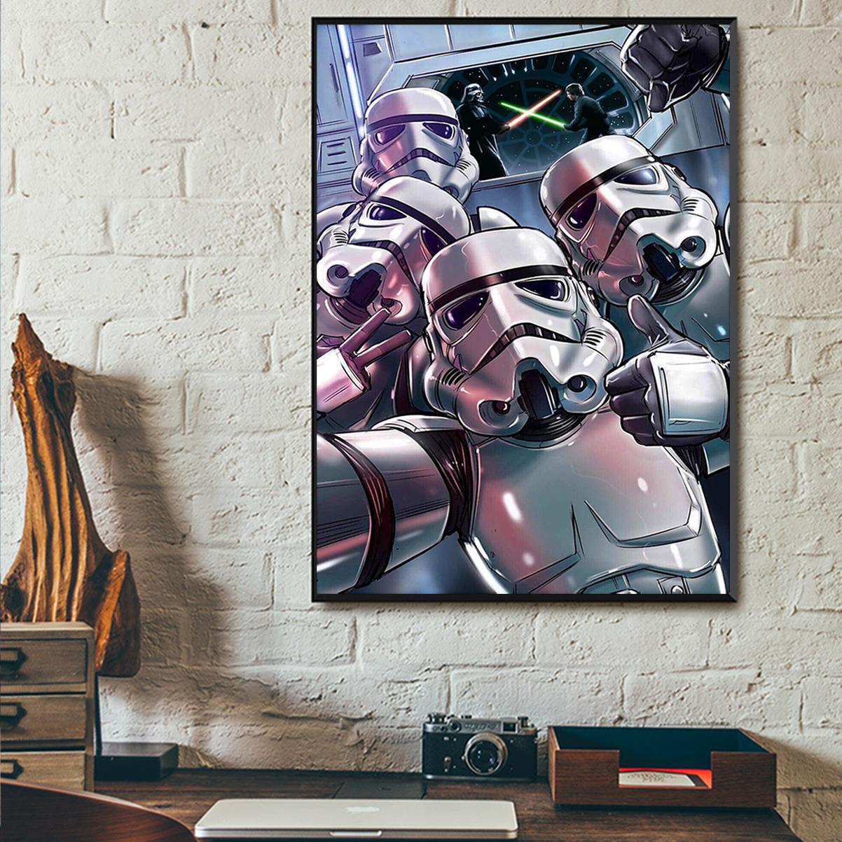 Stormtrooper sw selfie poster A1