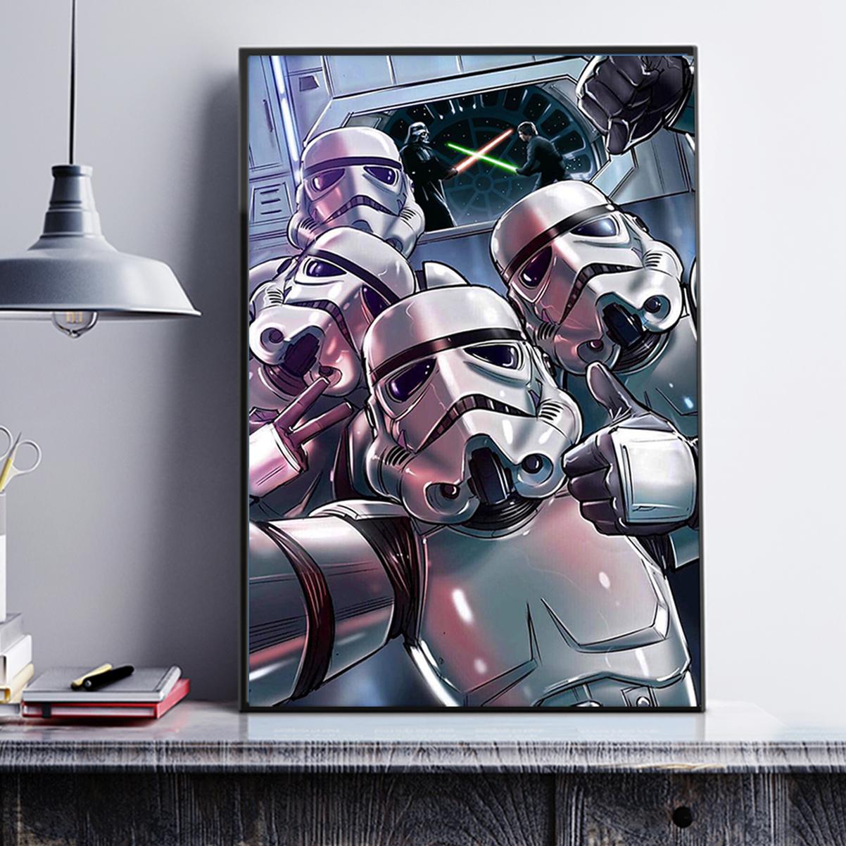 Stormtrooper sw selfie poster A3