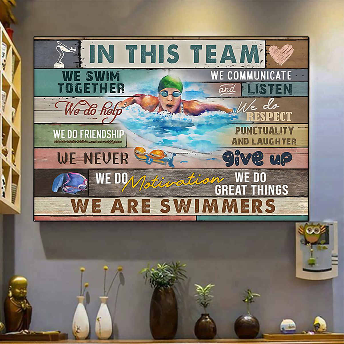 Swimming in this team poster A1