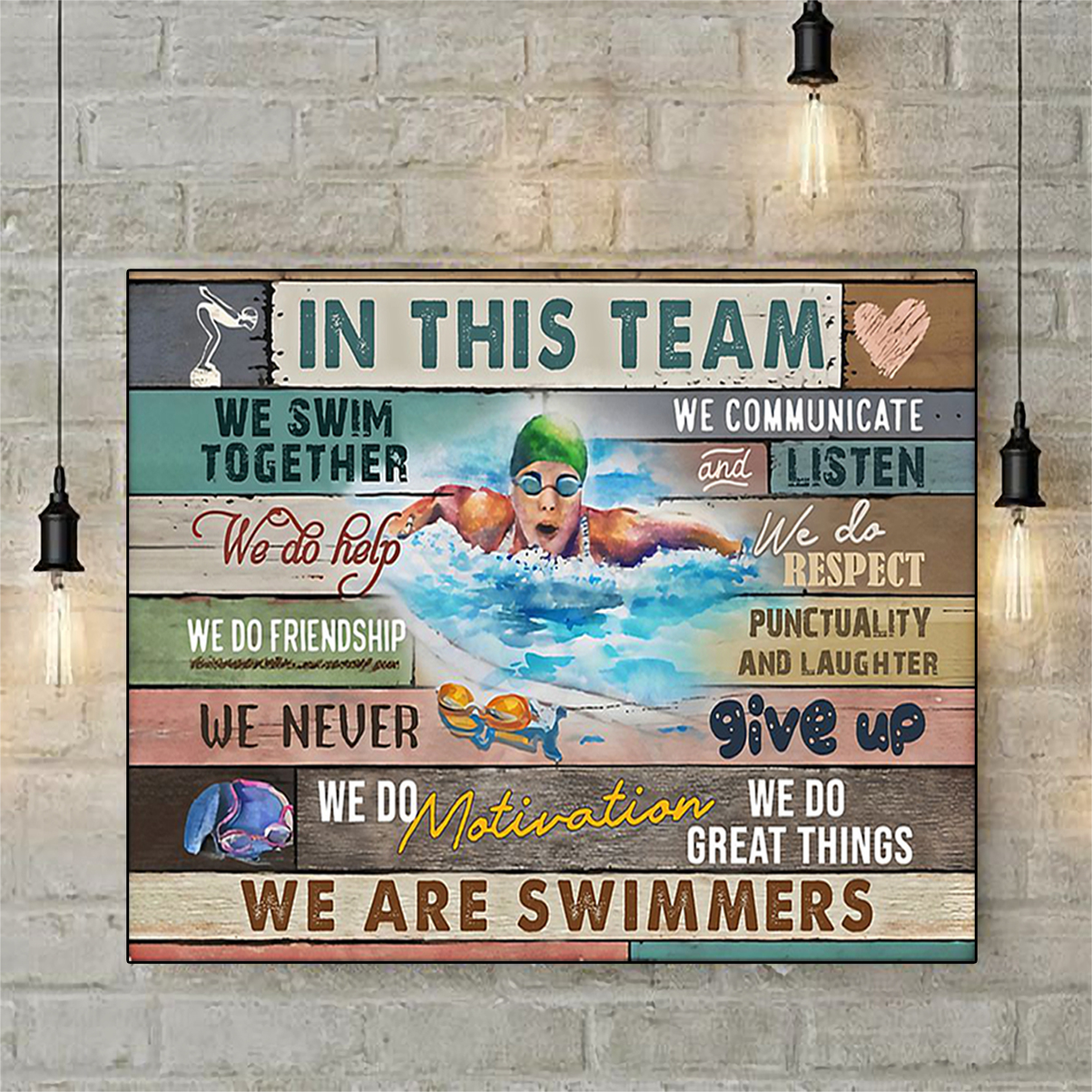 Swimming in this team poster A3