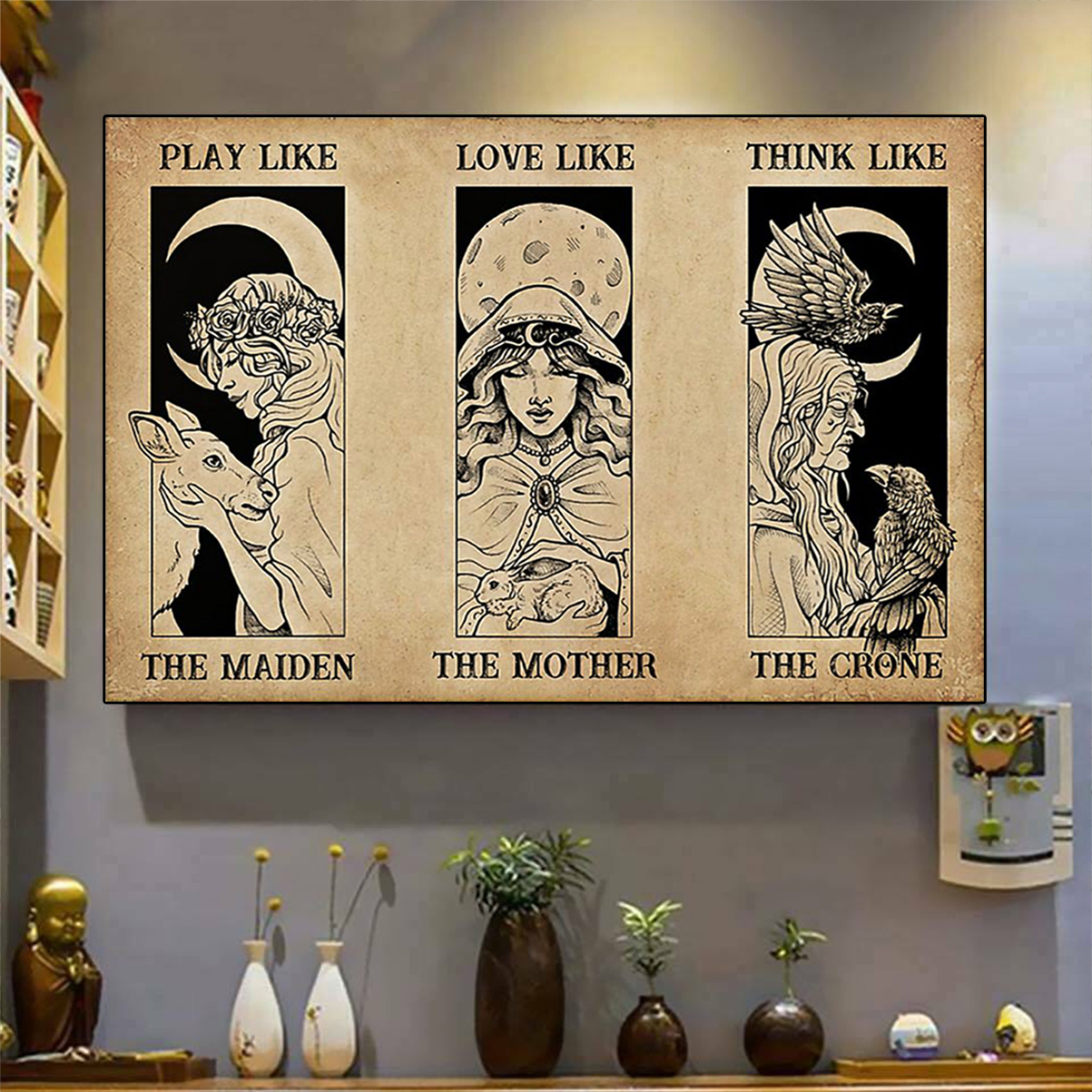 The maiden the mother the crone witch poster A2