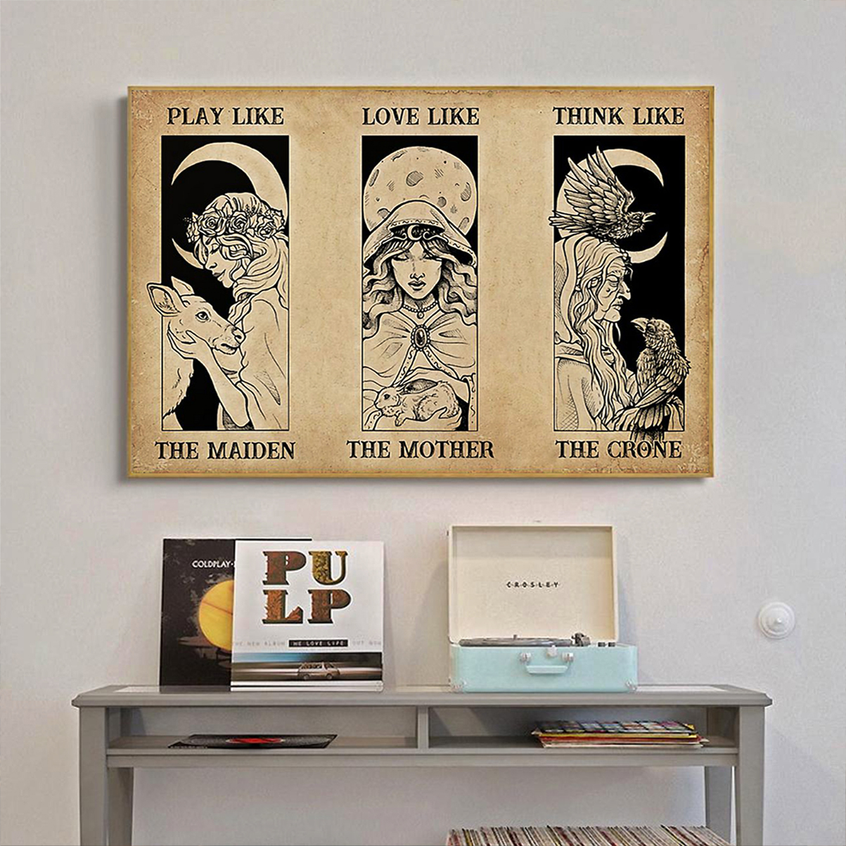 The maiden the mother the crone witch poster A3
