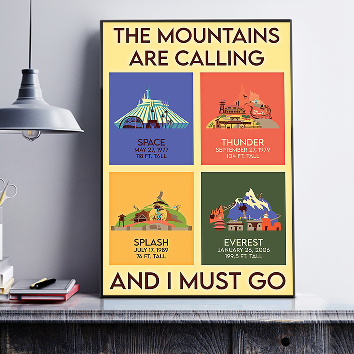 The mountains are calling and I must go poster A3