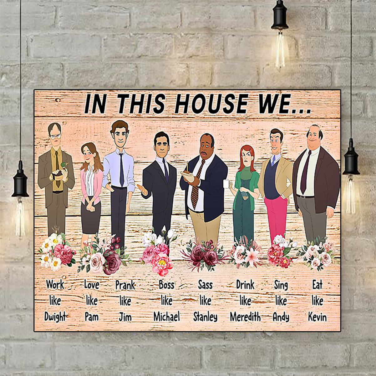 The office in this house we poster A2