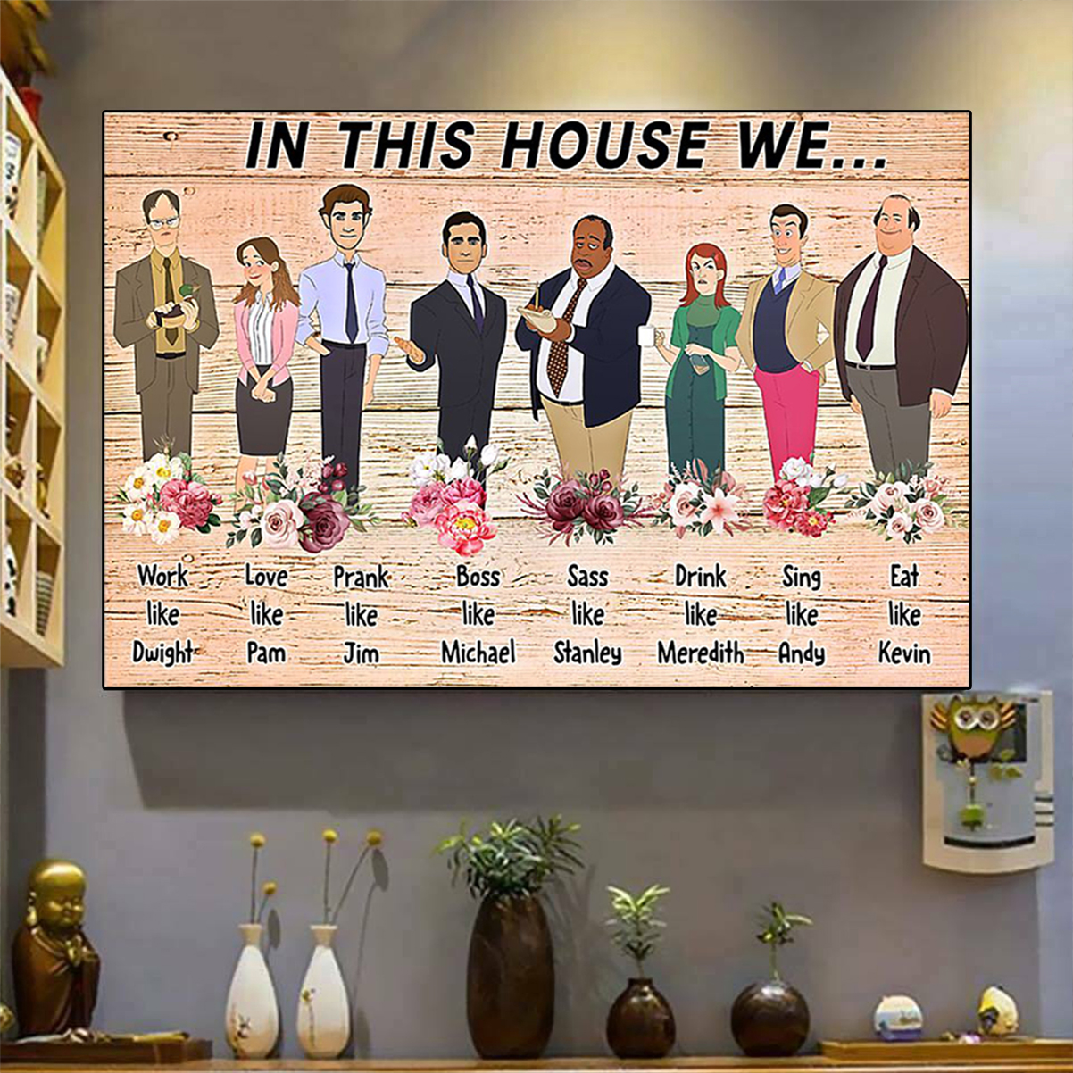 The office in this house we poster A3