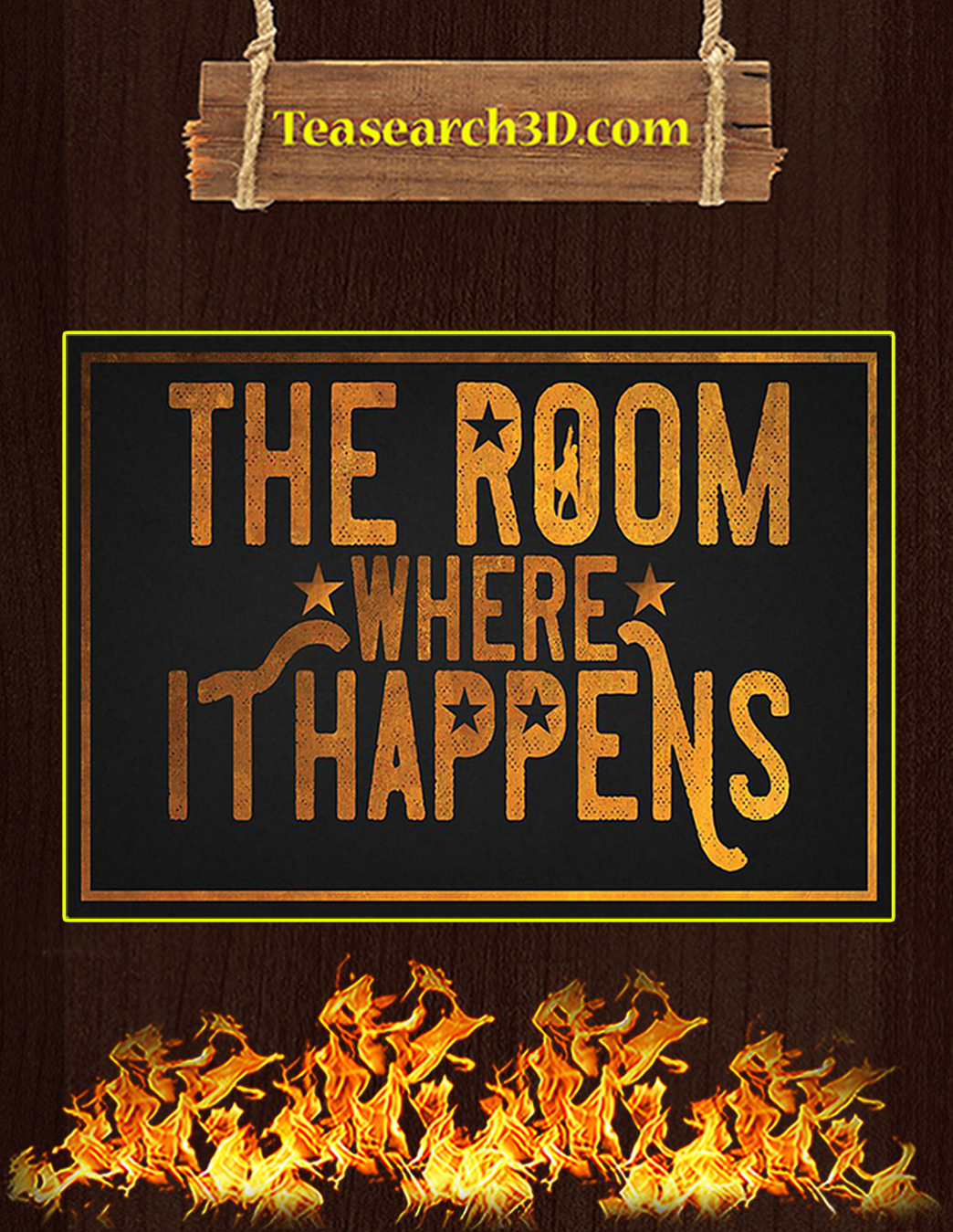 The room where it happens poster A1