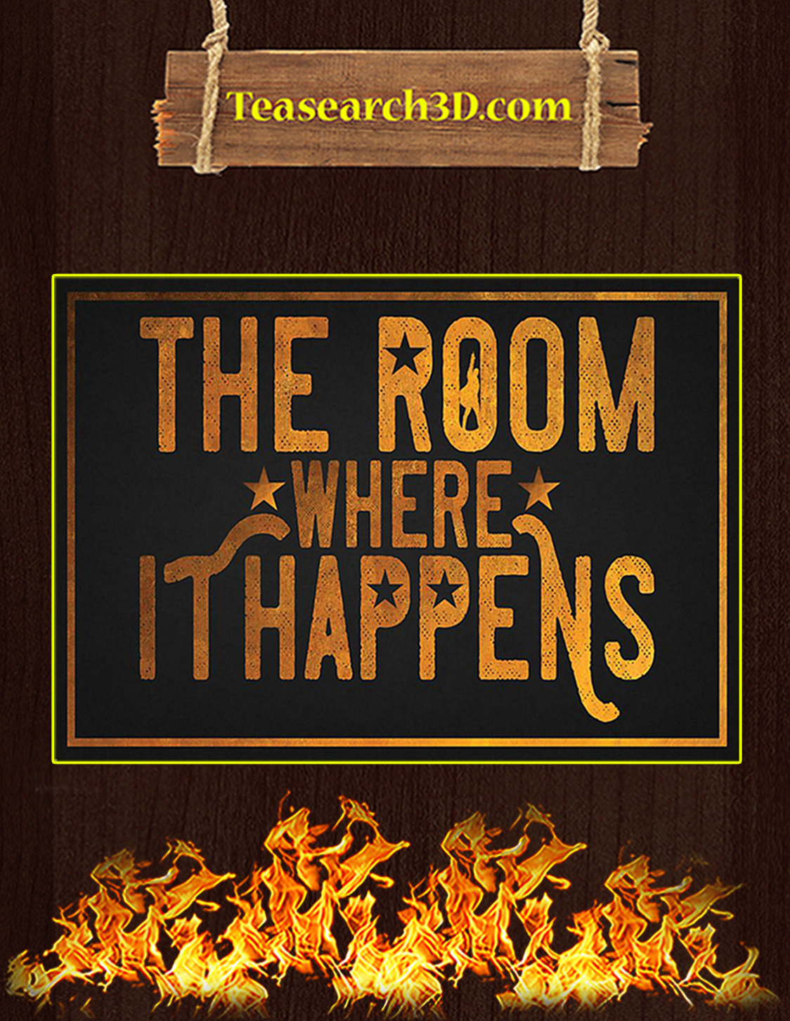 The room where it happens poster A3