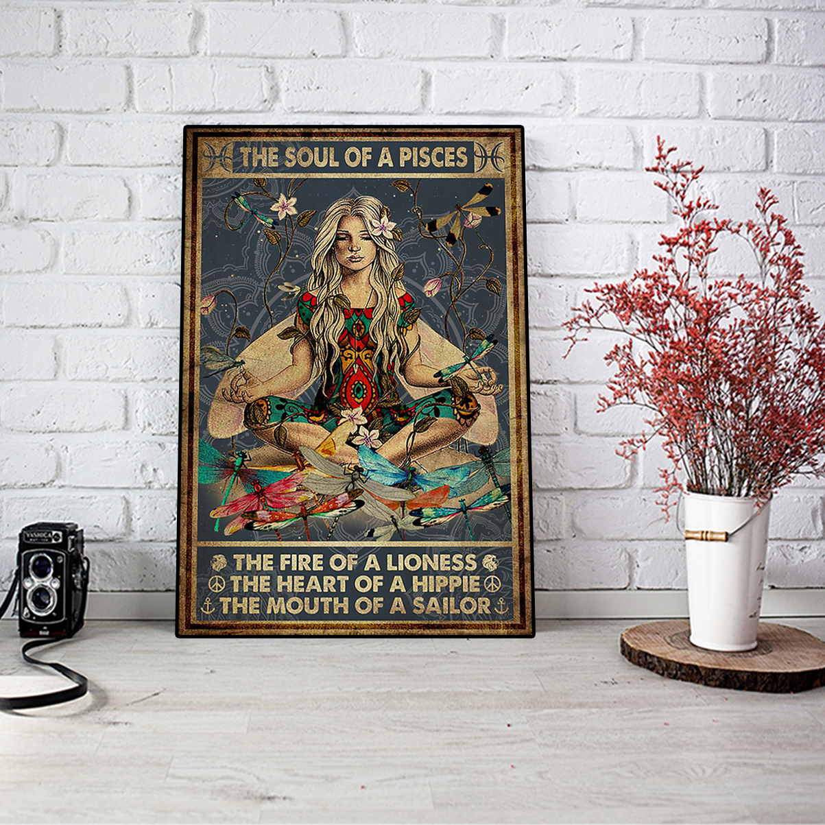 The soul of a pisces the fire of a lioness poster A1
