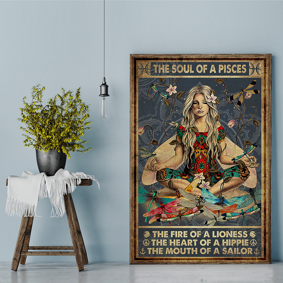 The soul of a pisces the fire of a lioness poster A2