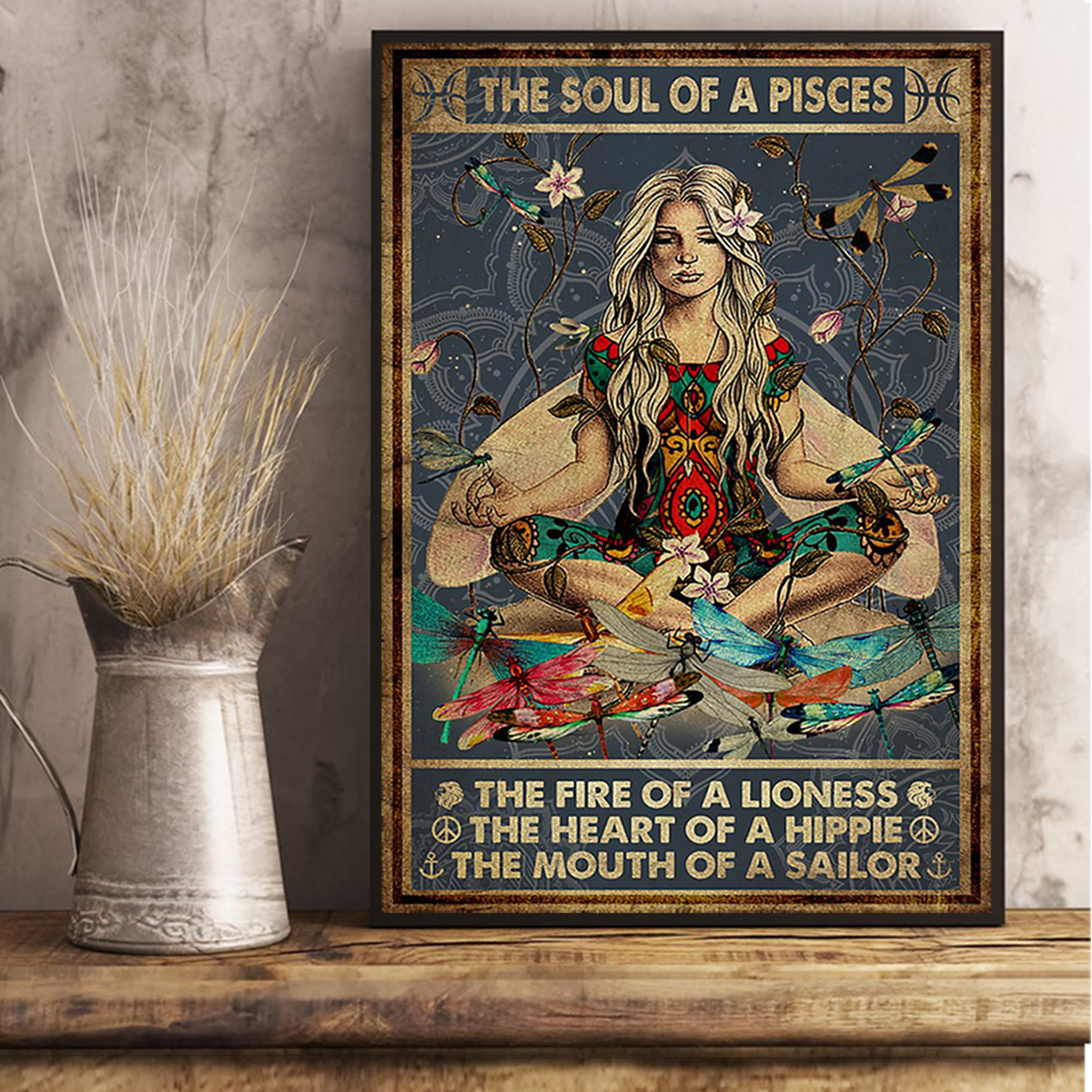 The soul of a pisces the fire of a lioness poster A3