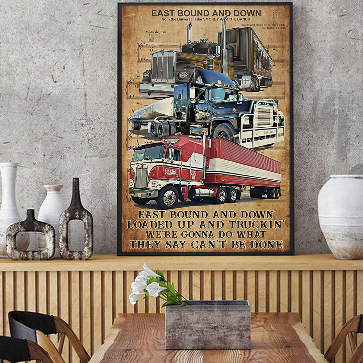 Truck driver east bound and down poster A2
