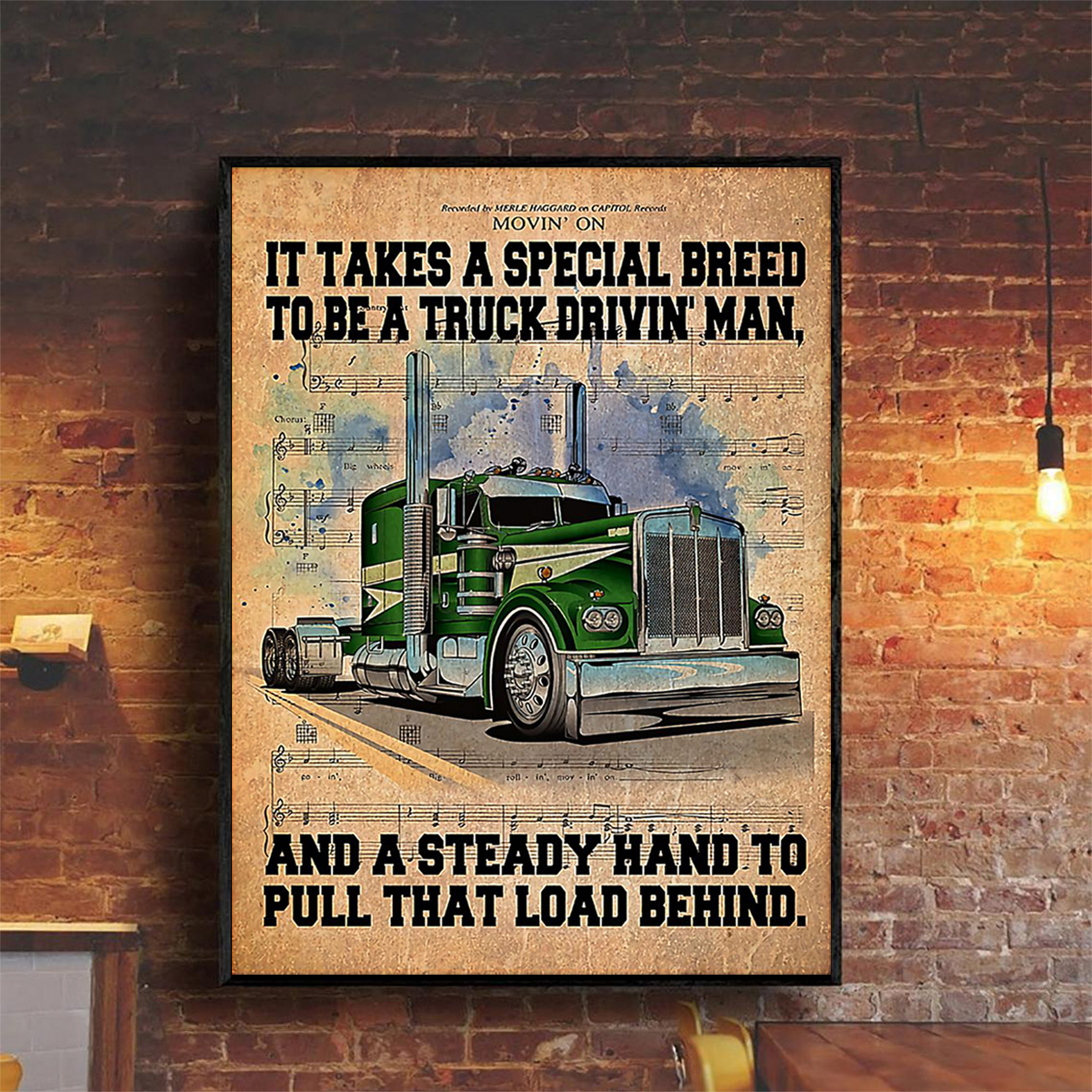 Trucker it take a special breed to be a truck drivin' man poster A2