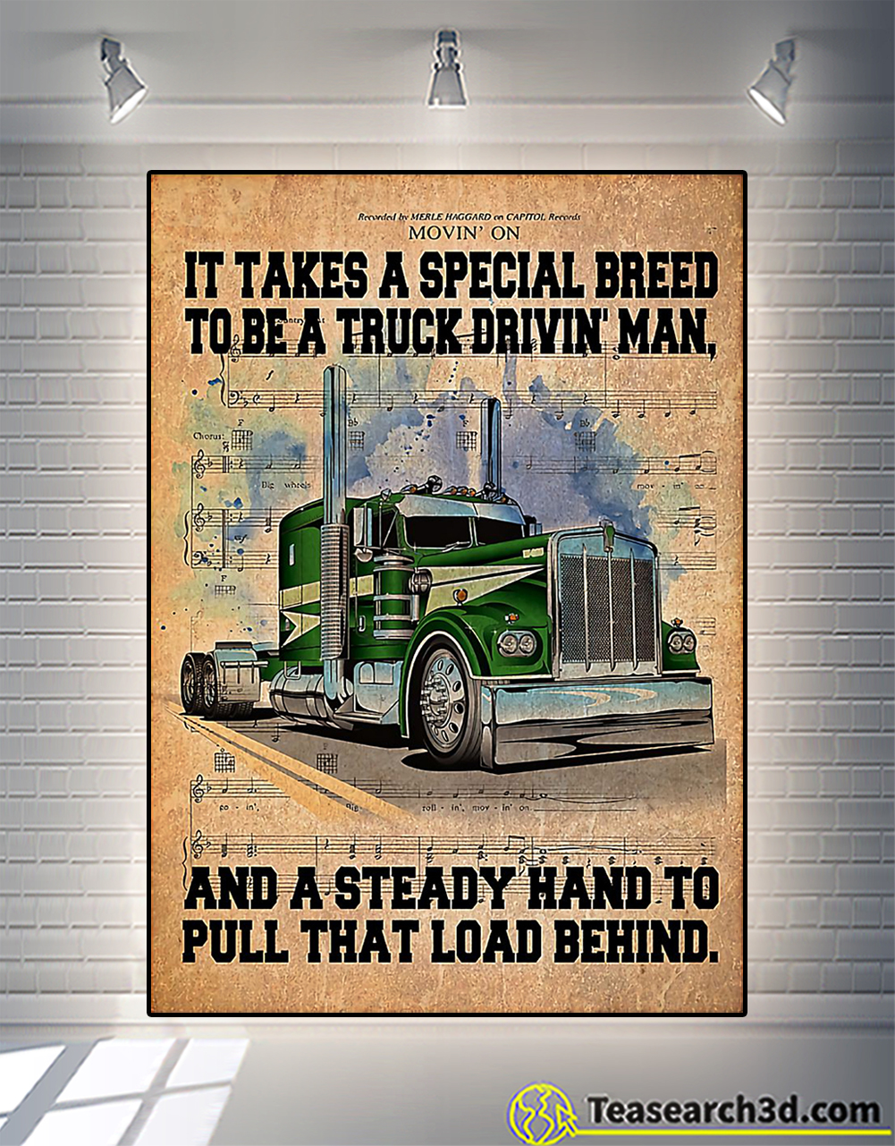 Trucker it take a special breed to be a truck drivin' man poster