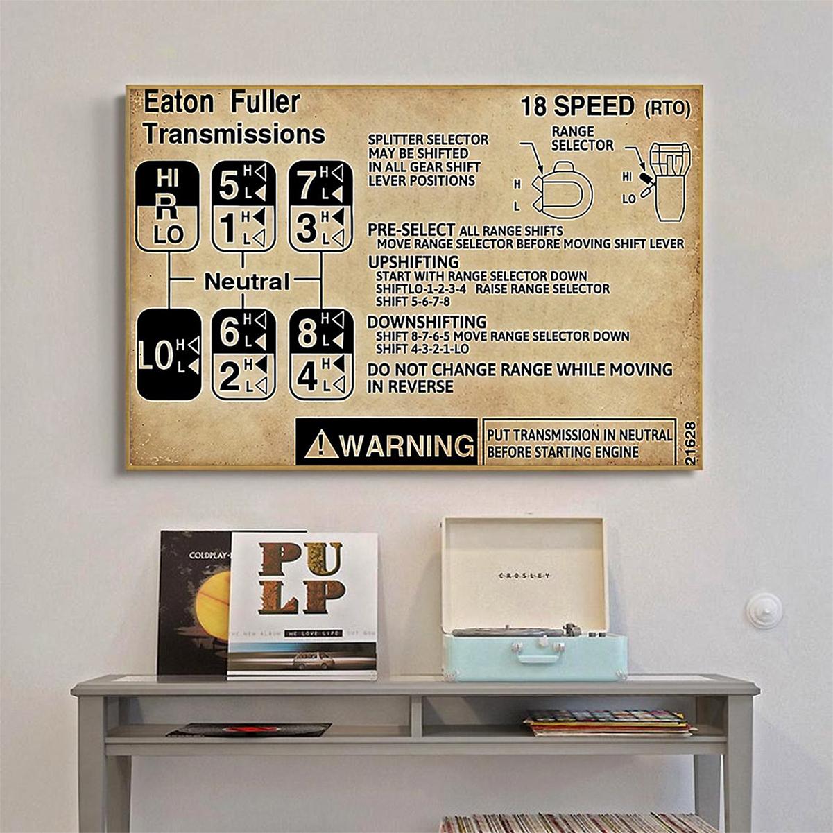 Trucker warning Information poster A1