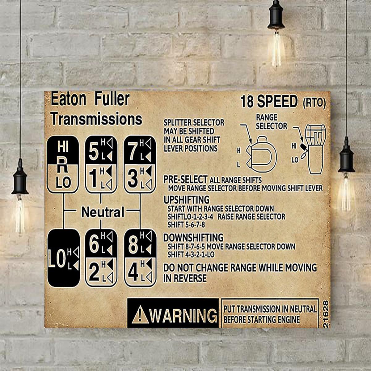 Trucker warning Information poster A2
