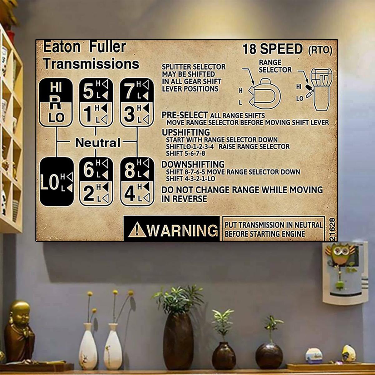 Trucker warning Information poster A3