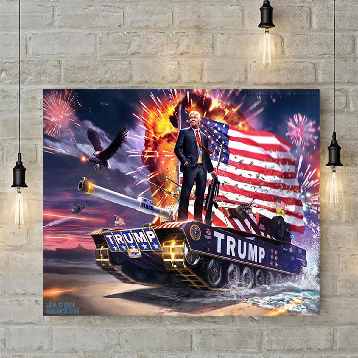 Trump tank poster A2