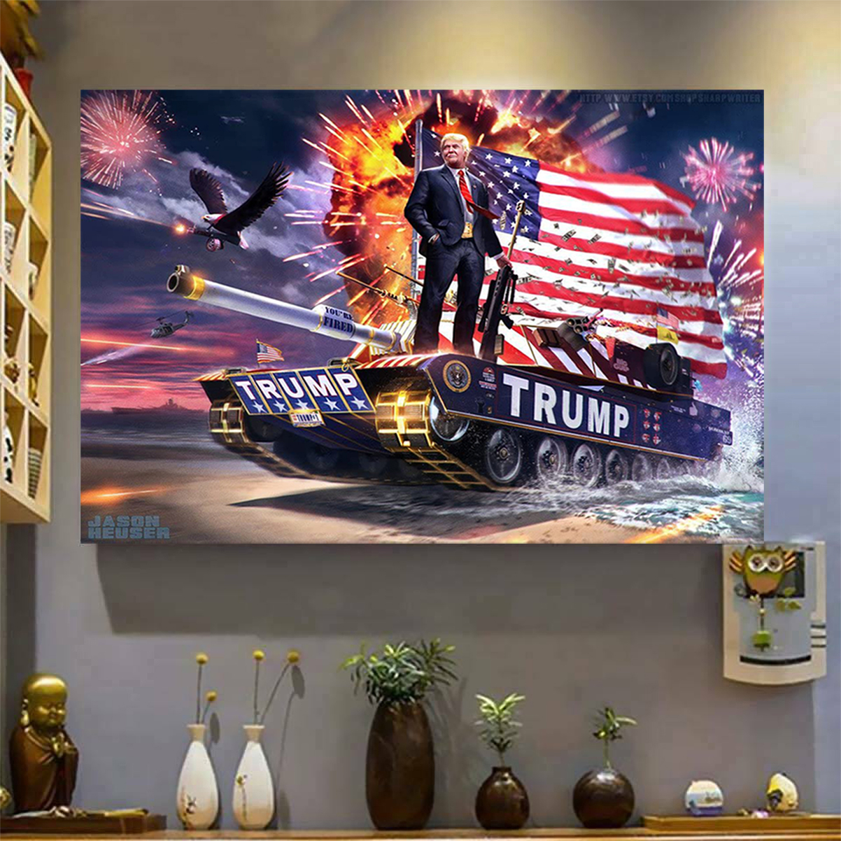 Trump tank poster A3