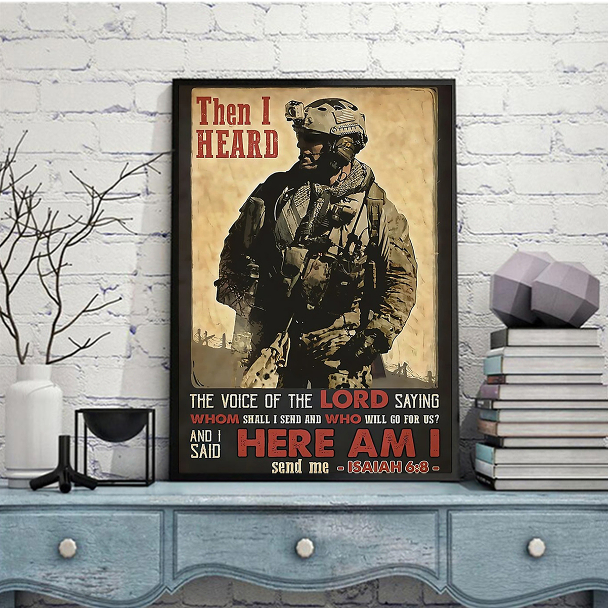 Veteran then I heard here am i poster A2