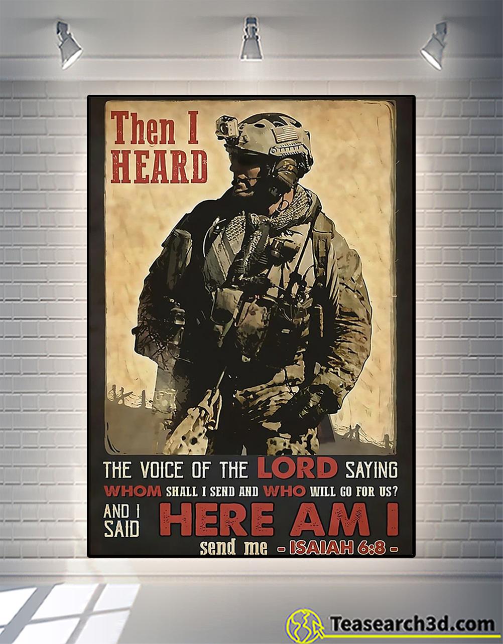 Veteran then I heard here am i poster