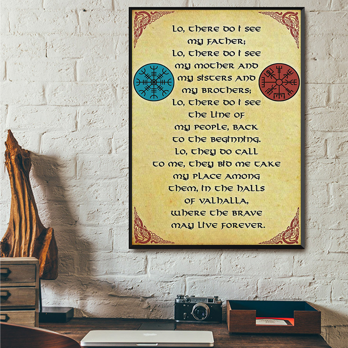 Viking lo there do I see my father poster A1