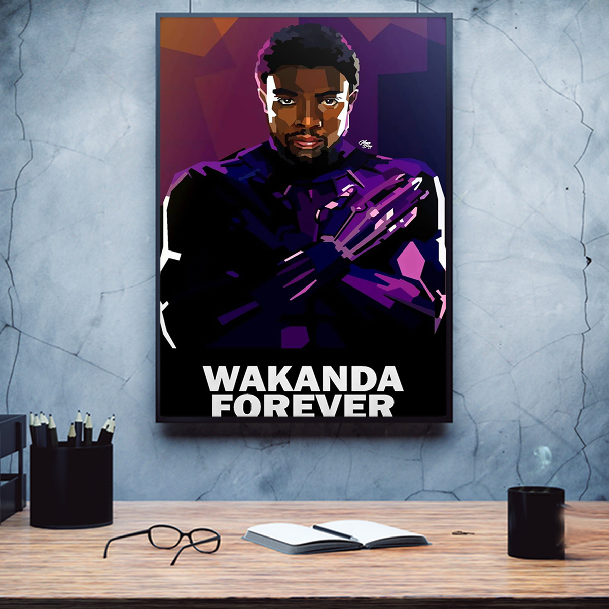 Wakanda forever poster A3