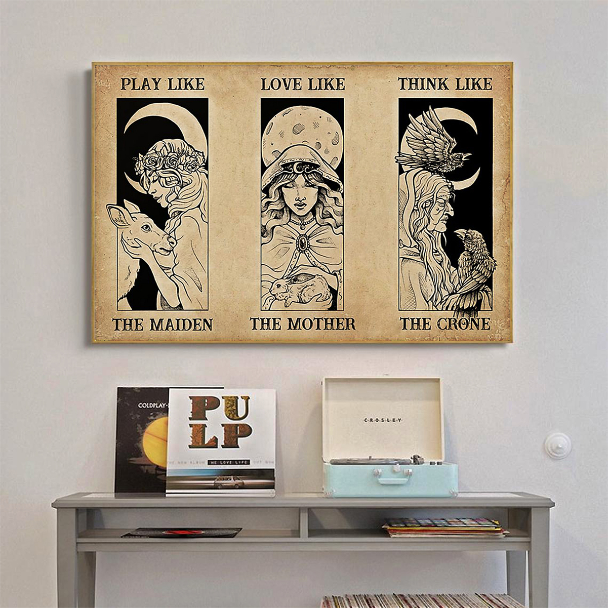 Witches maiden mother crone poster A1