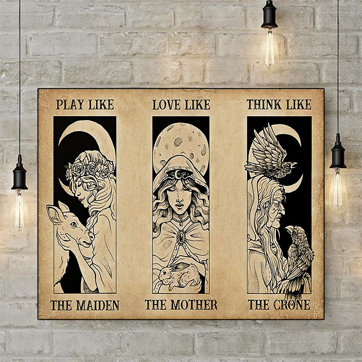 Witches maiden mother crone poster A2