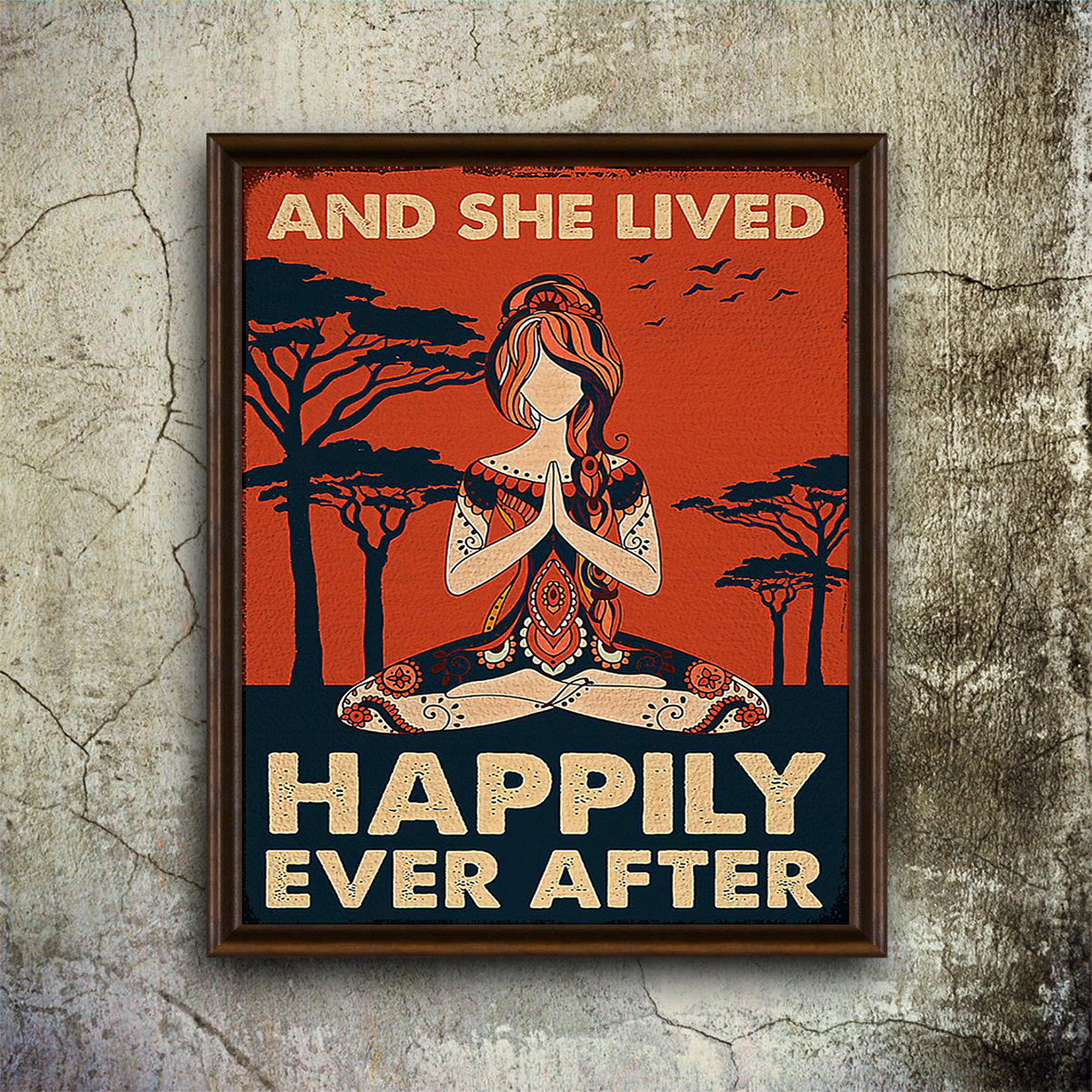 Yoga girl and she lived happily ever after poster A1