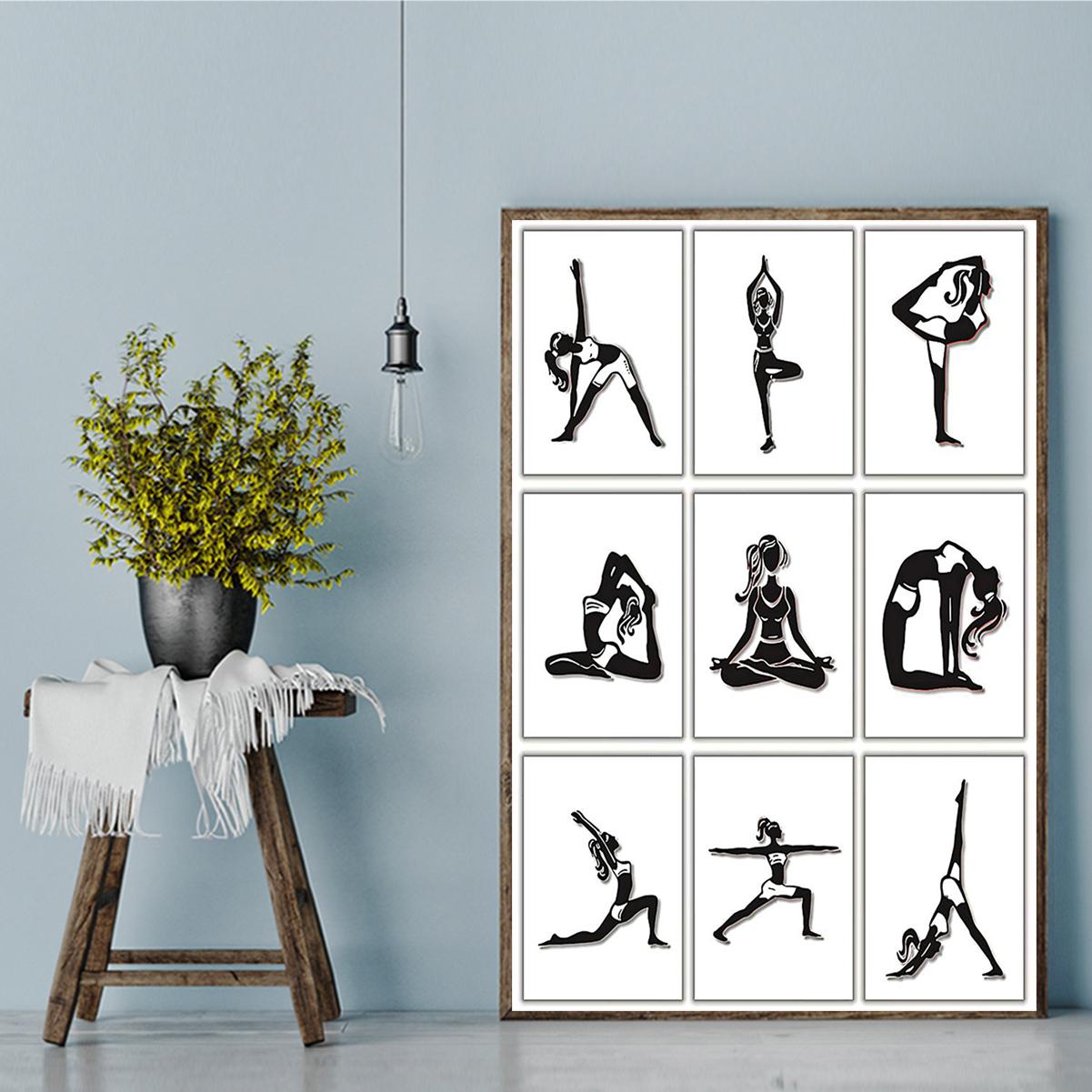 Yoga posture poster A1