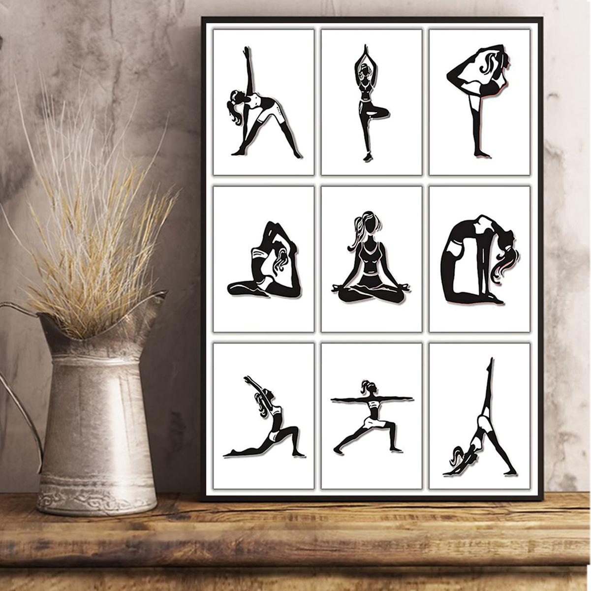 Yoga posture poster A2